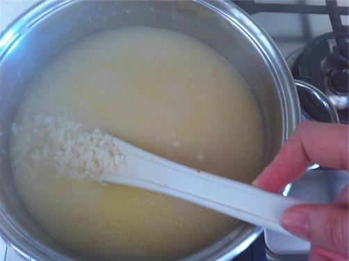 Supplì di Riso, la cottura del riso
